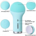 Cutie Sonic Facial Cleansing Brush,Heating Vibration Facial Massager