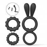 Cock Rings Set Super Soft Silicone Penis Rings Premium Stretchy Adult Sex Toy